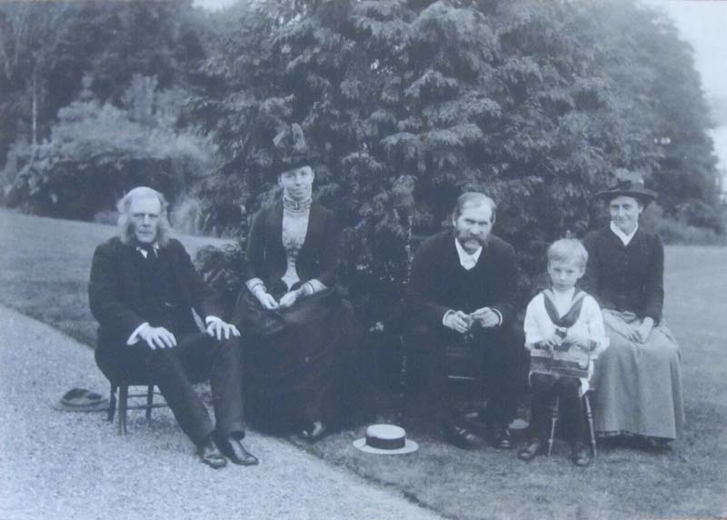 1885 - Rupert, Helen and Beatrix Potter with Hardwicke & Noel at Lingholm
