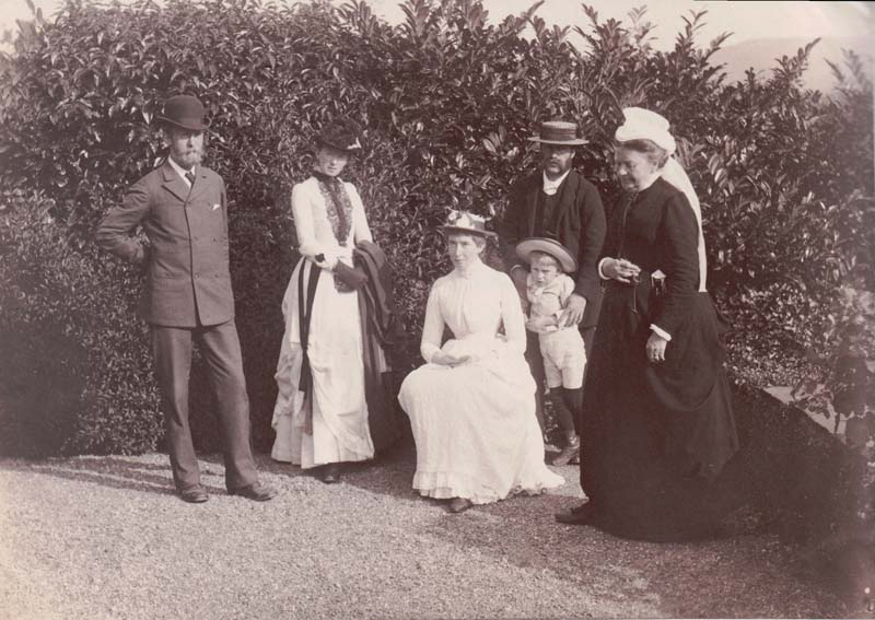 1885 (22 August) - Noel, Edith's Mother & Friends at Crosthwaite Vicarage