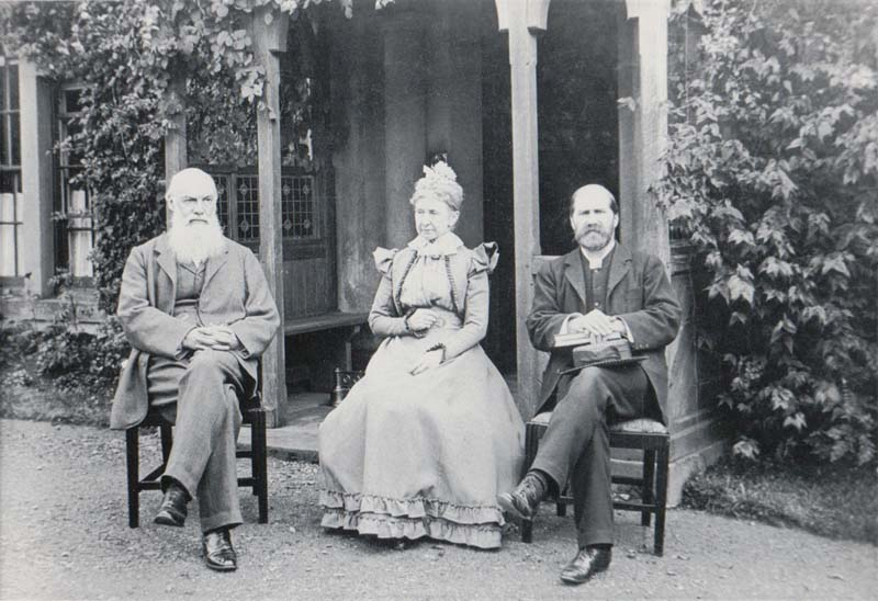 1897 - Professor & Mrs Caird at Crosthwaite Vicarage