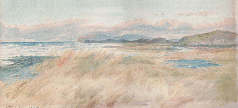 St. Bee's Head from Seascale, November 1883