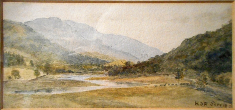 Watercolour by HDR: Possibly of Mawddach Estuary near Barmouth 1871