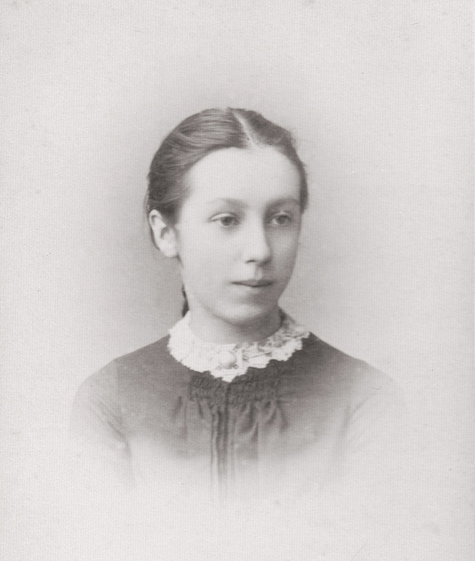Eleanor Foster Simpson, 1885. Copyright and acknowledgement to Mrs Harriet Spence.